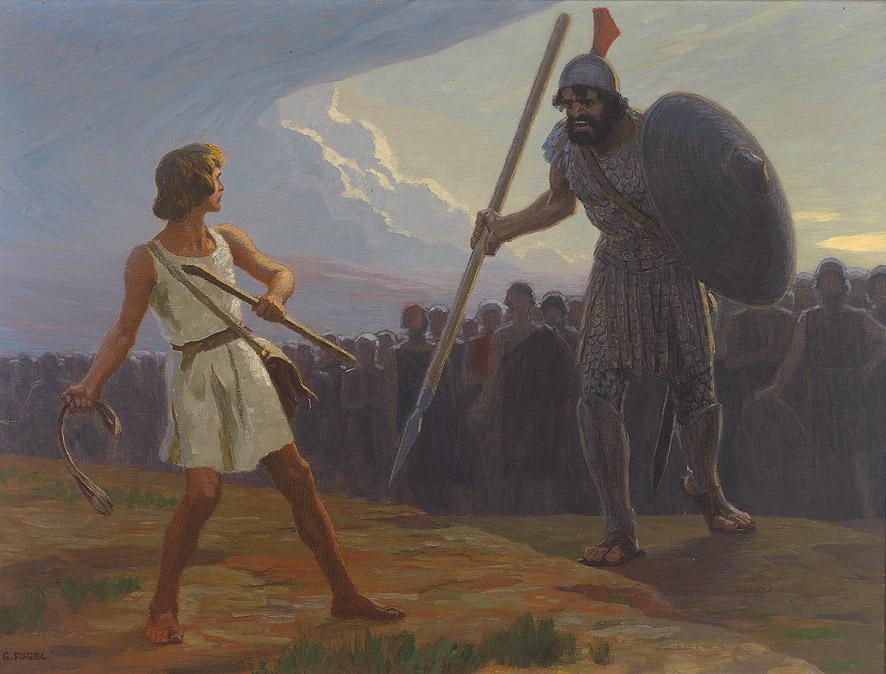 Αποτέλεσμα εικόνας για Δαβίδ και γολιάθ